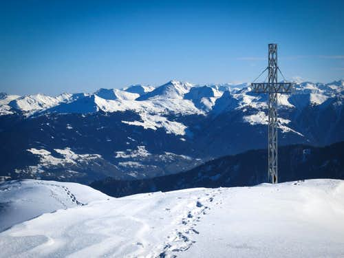 The summit of the Stanser Joch