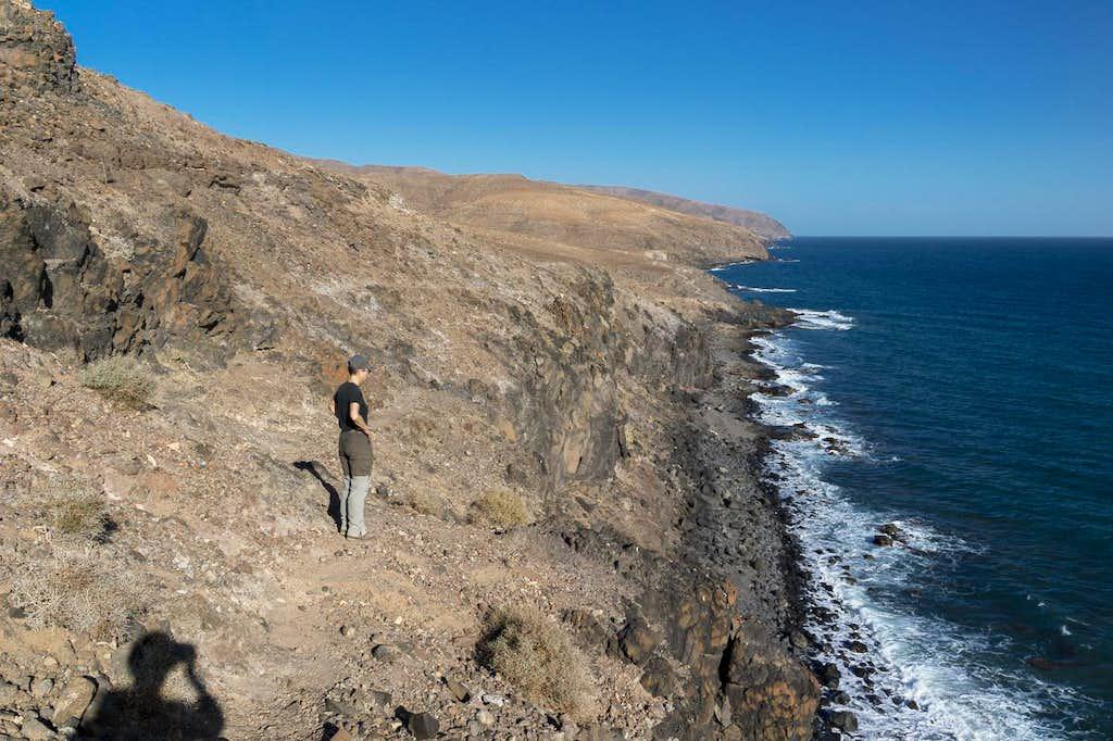 Above Fuerteventura's south coast