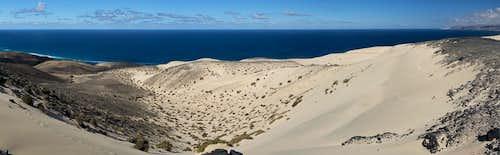 Sand dunes on El Jable