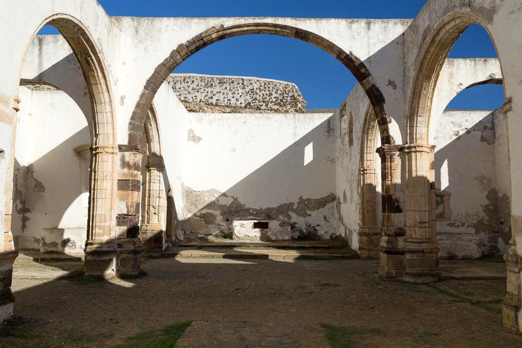 Inside the ruins of Convento de San Buenaventura