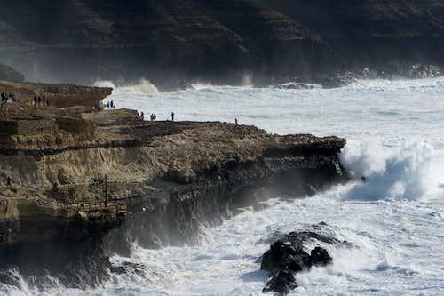 Wild breakers in the bay of Ajuy