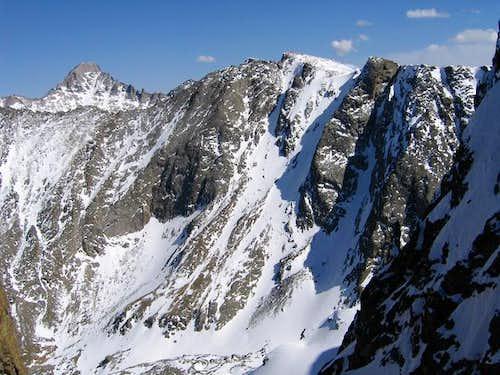 Longs Peak and Powell Peak....