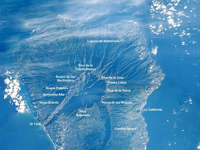 Satellite picture of the...