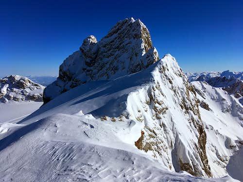 "The ""Dirndl"" (2832 m) seen from the Dachsteinwarte"