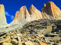 West walls in Torres del Paine, South Patagonia, Chile