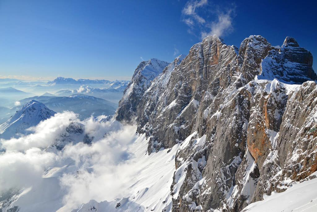 Clouds playing around the Dachstein group
