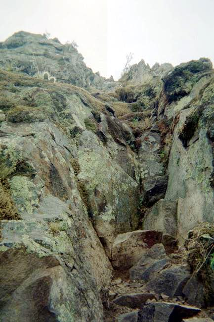 The rock scramble section...