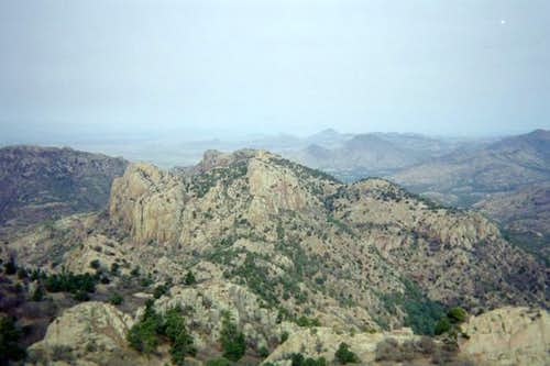 A view of the Davis Mountains...