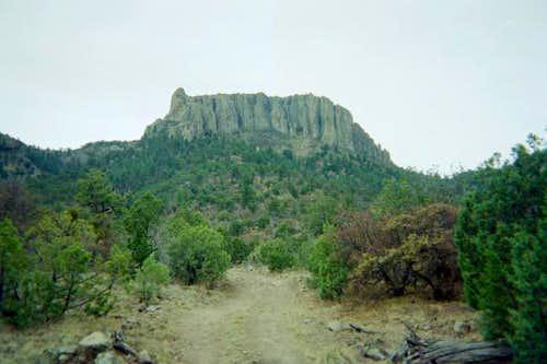 Looking up at the big rock...