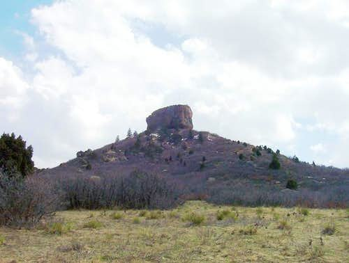 Castle Rock\'s rugged summit...