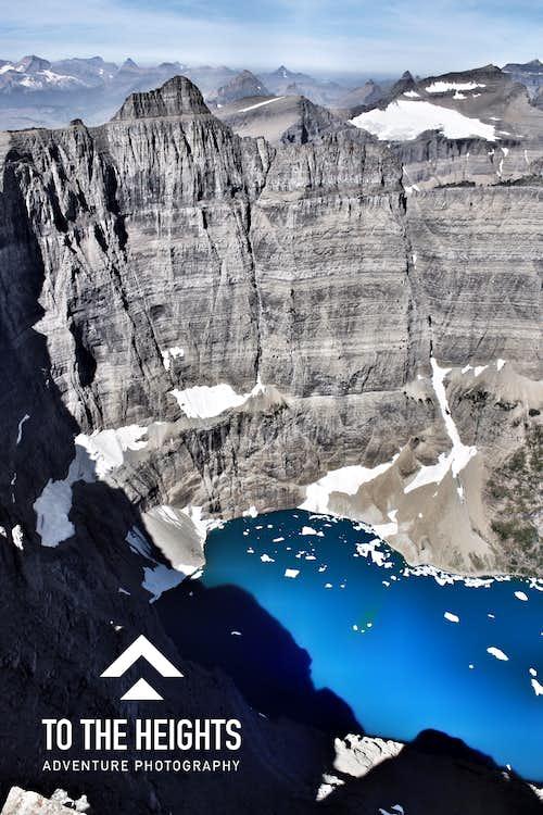 Iceberg Lake and Peak from Wilbur summit