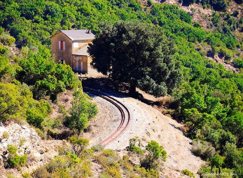 The ancient railway crossing the mountains of Ogliastra