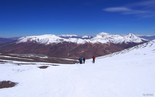 Halfway up Nevado de San Francisco (6018m)