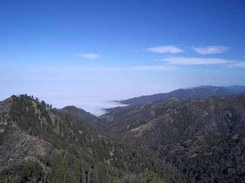 View from Cone Peak summit...