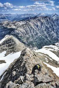 Ascending the ridge to the summit of Vulture