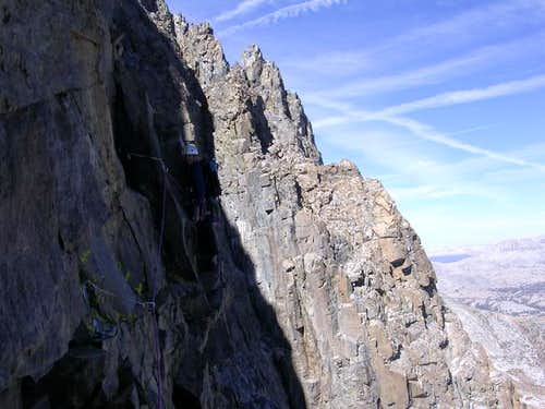 The crux pitch. The photo...