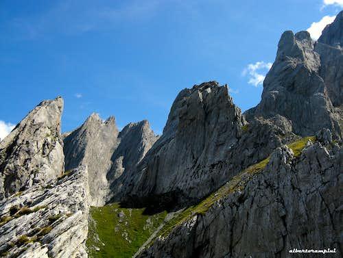 Engelhörner group bizarre spires