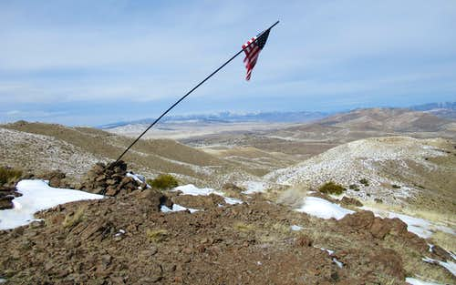 On top of Flag Hill (Point 5967)