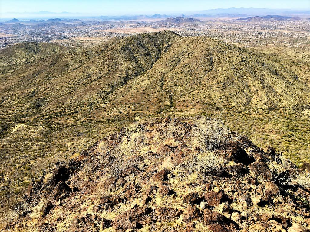 Sage Gustafson Peak from the summit of Apache Peak
