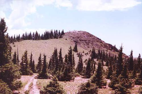 A view toward the summit of...