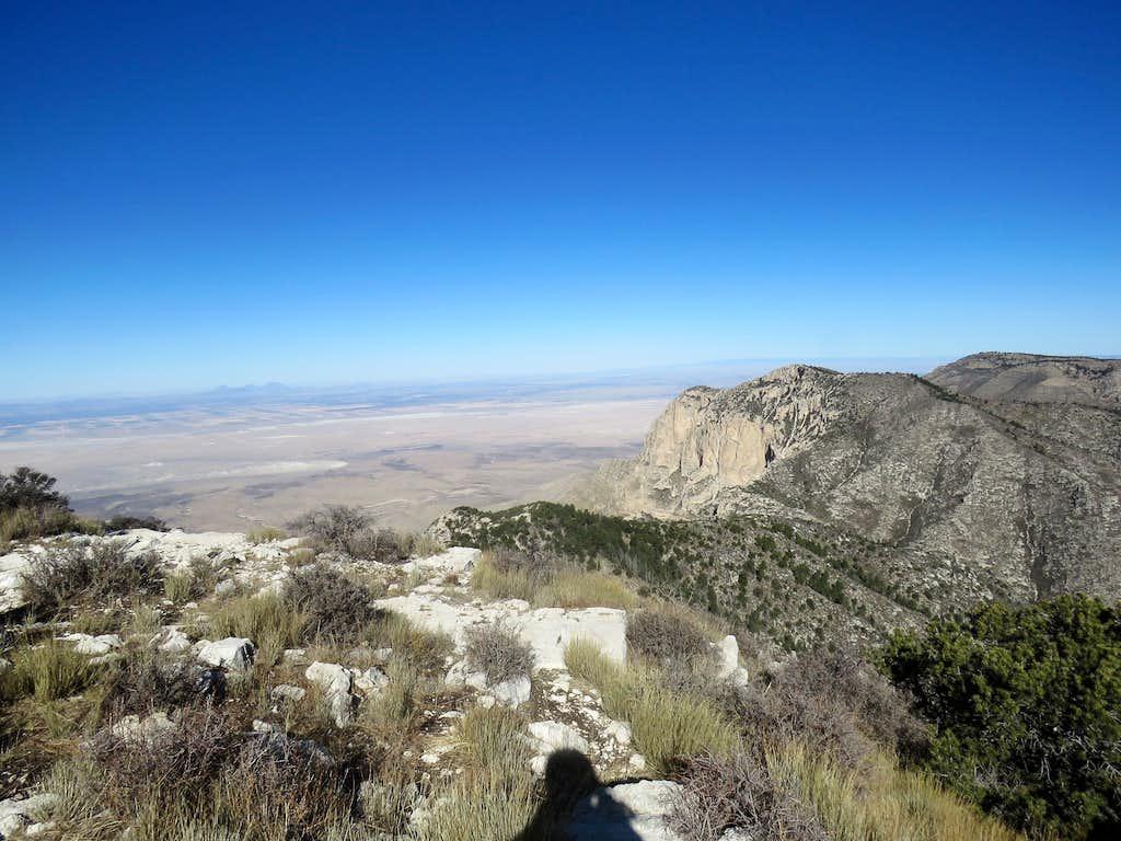 Shumard Peak from Guadalupe Peak