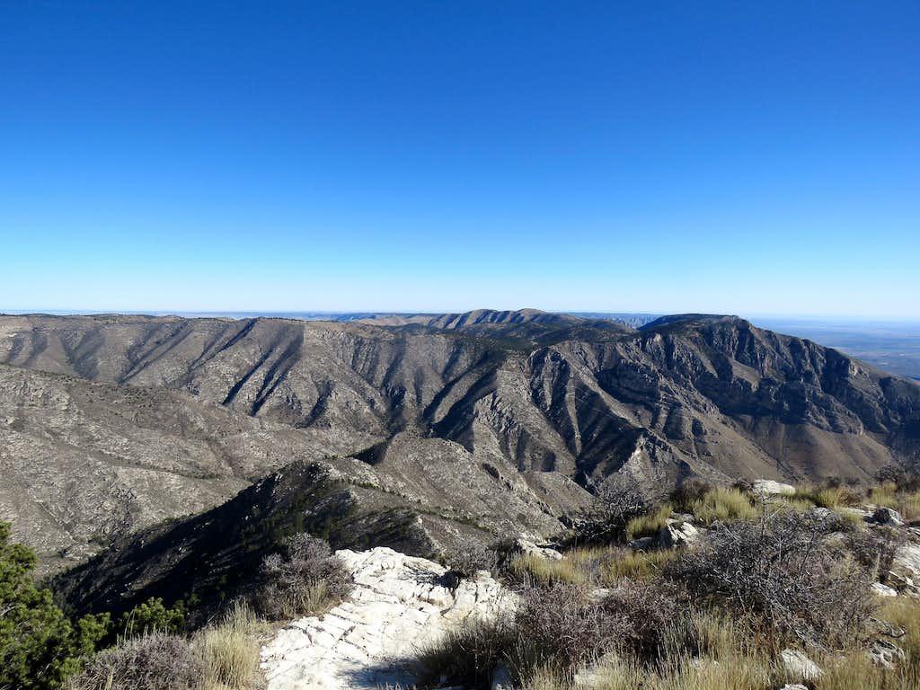 Hunter Peak from Guadalupe Peak