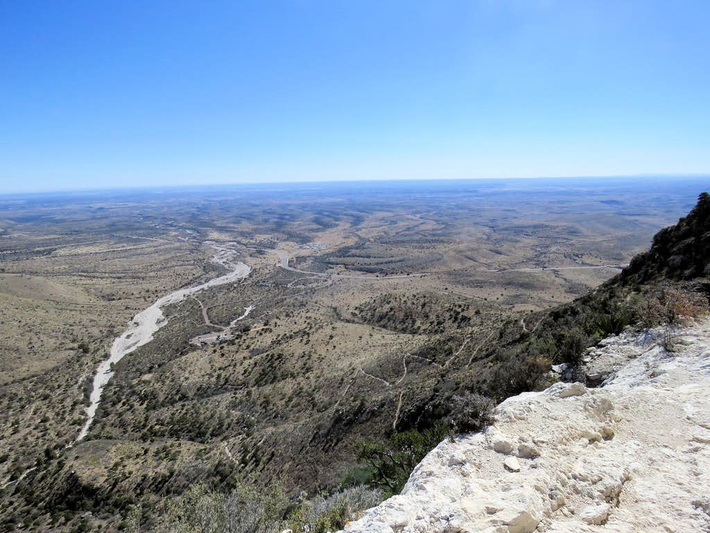 Plains of Texas from the trail
