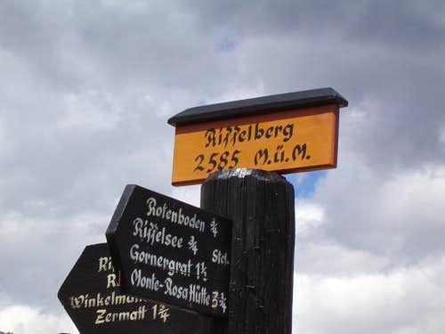 Sign at Riffleberg with...