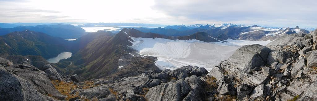 Panoramic view from the summit looking to the West