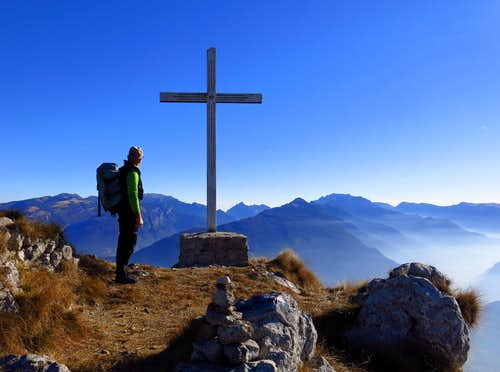 On the summit of Monte Biaena