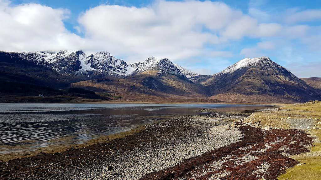 Bla Bheinn and Garbh Bheinn over Loch Slappin