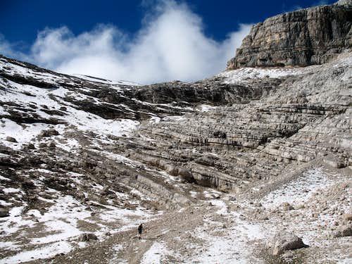 Lavarela. Upper part of the Busc da Stlu