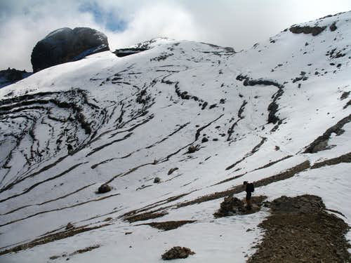 Lavarela. The col at 2885m