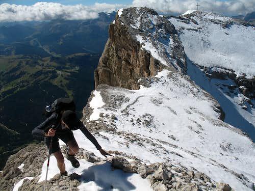 Lavarela. Heading for the summit