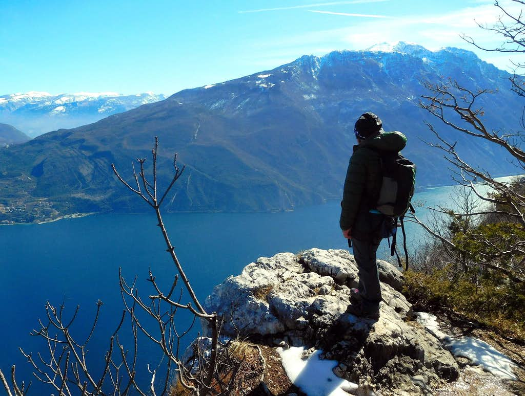 Summit of Cima Capi and Garda Lake