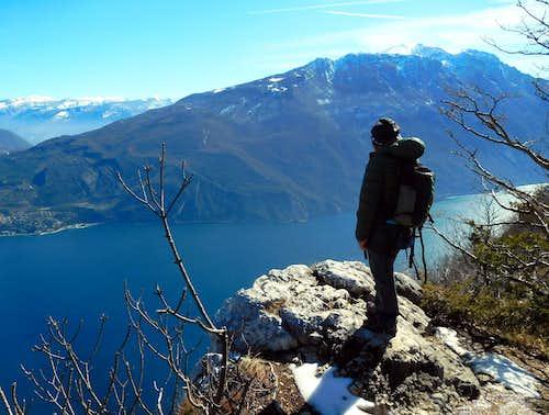 Summit of Cima Capi and Garda Lake