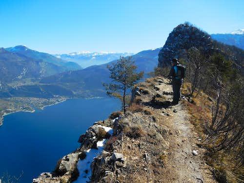Exposed ridge to Cima Capi
