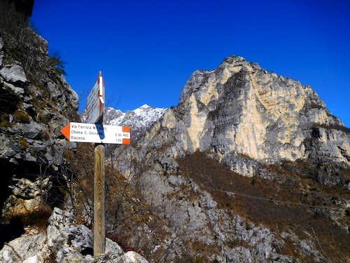 Corna Frea seen from Sentiero Foletti to Cima Capi