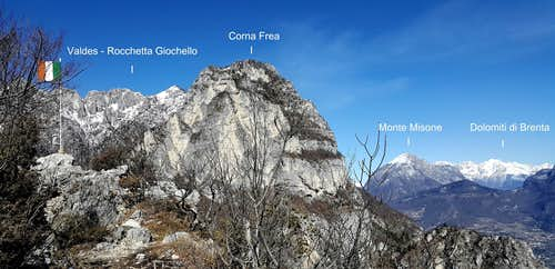 Annotated view from Cima Capi