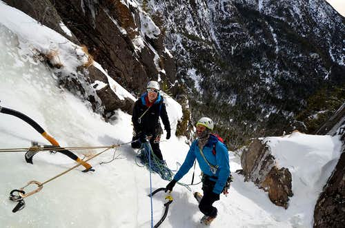 Laura and Brent at the first belay.