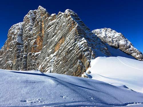 Hoher and Niederer Dachstein in winter