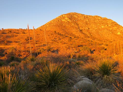 Sunrise near trailhead