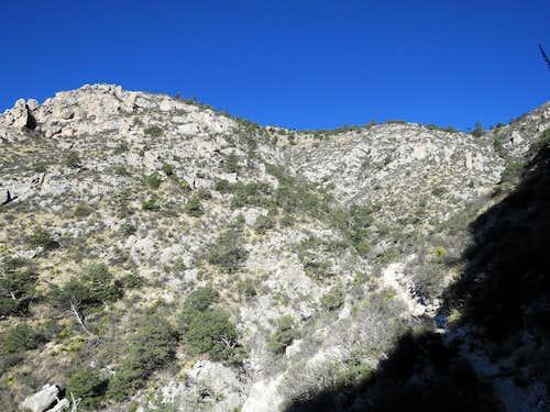 Hunter Peak from upper Bear Canyon Trail