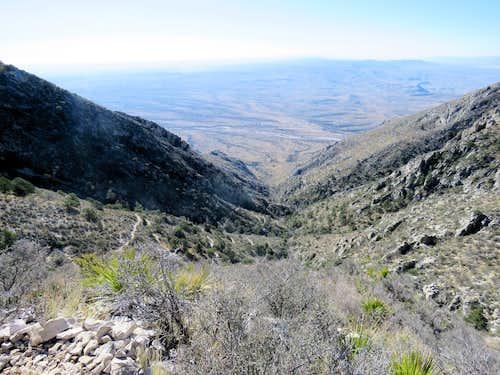 Looking down Bear Canyon