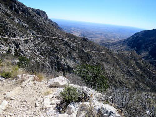Zigzagging Tejas Trail