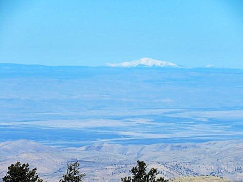 Sierra Blanca Peak 115 aerial miles away