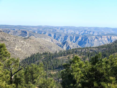 Mckittrick Canyon, zoomed vies