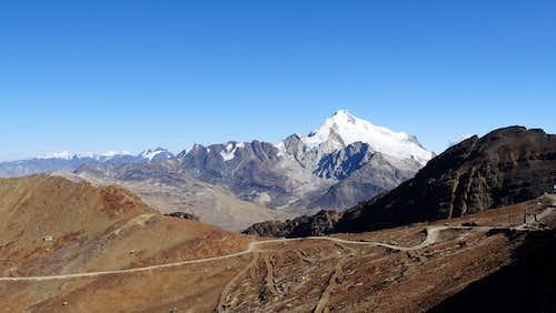 Huayna Potosi from the old ski lodge near Chacaltaya