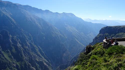 Looking east up Colca Canyon near Mirador Cruz del Cóndor