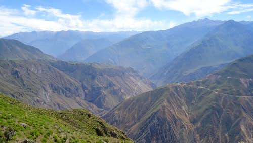 Looking west down Colca Canyon near Cabanaconde